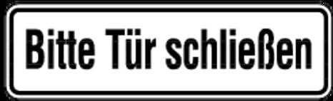 Tür schließen  Aufkleber Bitte Tür schließen 70x240mm: Amazon.de: Baumarkt