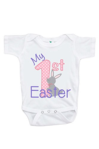 Custom Party Shop Baby Girls' Novelty My 1st Easter Onepiece 3-6 Months Pink and Purple