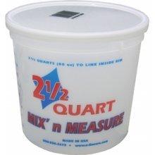 Mix N Measure Container - Encore Plastics LS61086 2.5 Quart Mix' N Measure Container Comes Without Lids - (Pack of 12)