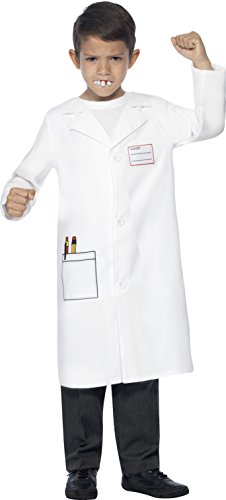 Smiffy's Children's Dentist Kit,  Coat and Awful Teeth, Ages 7-9, Size: Medium, Color: White, (Dentist Costume)