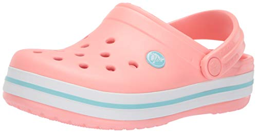 Crocs Kids Crocband Clog, melon/ice blue, 7 M US Toddler