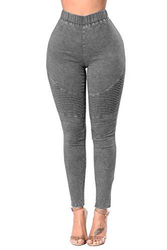 Long Taille De Gray Les des Pantalon Jeans La Skinny Femmes Jeans Poche Haute qBnFUn0zp