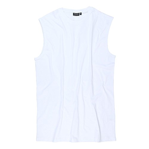 Weißes XXL Shirt ohne Arm in Übergrößen von Redfield bis 10XL