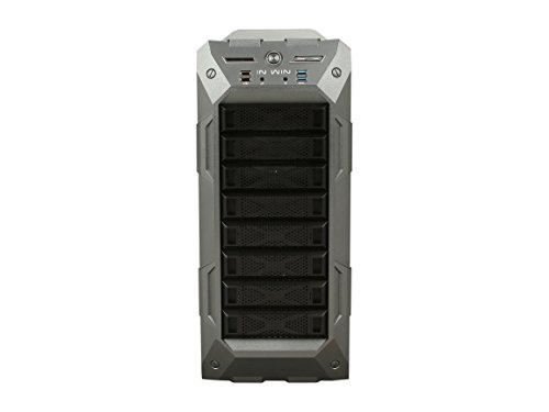 InWin GR One/Gray Sleek SECC ATX Full Tower Computer Case ATX 12V/EPS Power Supply Compatible by InWin (Image #1)