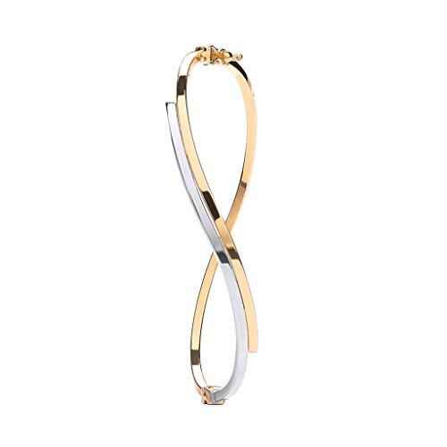 9ct 2Couleur or blanc et jaune Bracelet de mariage russe 3,7g