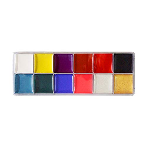 1PC 12 Color Waterproof Face Body Pigment Oil Painting Art in Halloween Party Fancy Dress Beauty Makeup Tool -