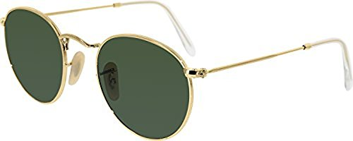 Ray-Ban Round Metal RB3447 Sunglasses Arista / Crystal Green 47mm & Cleaning Kit - 47mm Rb3447 Ban Ray