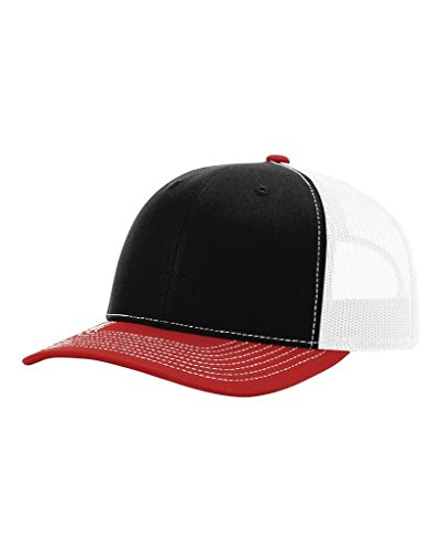 - Richardson Trucker Cap, Black/White/Red, one Size