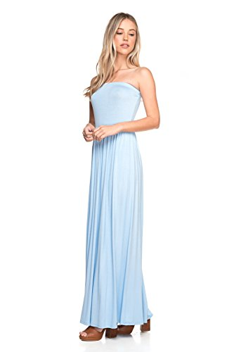 Maxi Dress Ceri Sky Strapeless Jersey J2 Blue Tube Women's Cemi Love 7ZYx8qf8w