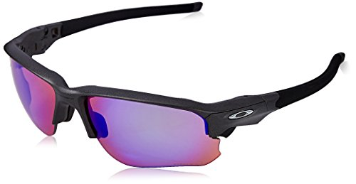 Oakley Men's OO9364 Flak Draft Rectangular Sunglasses, Steel/Prizm Golf, 67 mm