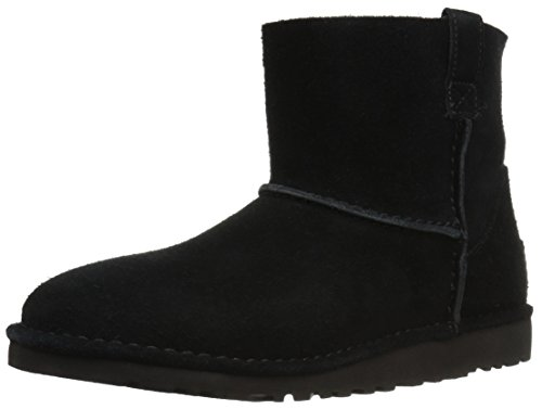UGG Women's Classic Unlined Mini Slouch Boot, Black, 11 M US (Women Ugg Boots Leather)
