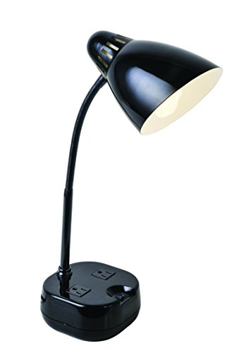 Lite Source LS-22375BLK Kade Metal Desk Lamp, 17