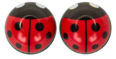 TRICK TOPS Lady Bug Valve Caps, Red