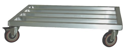 Lockwood Dunnage Rack - Lockwood MDR-2460-6 Aluminum Mobile Dunnage Rack with Swivel Casters, 1600 lbs Load Capacity, 60