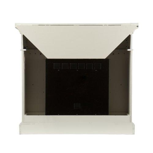 SEI Carrington Convertible Gel Fireplace, Ivory