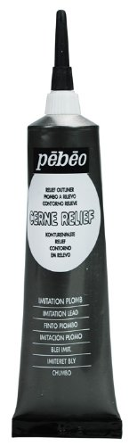 Pebeo Vitrail, Cerne Relief Dimensional Paint, 37 ml Tube with Nozzle - Imitation Lead