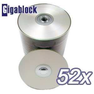 500pcs Gigablock CD-R 52x Silver Inkjet Hub Disc Printable with Epson Printer by Gigablock
