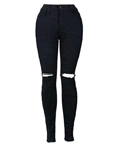 Taille Femmes Crayon Pantalons Noir Mengmiao Leggings Up Push Collants Denim Pantalon Haute Stretch Skinny Jeans xwfxWqgn