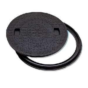 マンホールカバー 丸枠付 樹脂製 600型 JM-600B-2 城東テクノ B0086ZNLJ8 14914