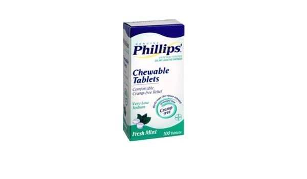 Amazon.com: Phillips Milk of Magnesia Tablets Mint - 100 Tablets: Health & Personal Care