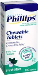 Phillips Milk of Magnesia Tablets Mint - 100 Tablets