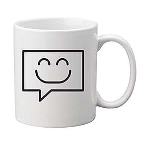 Ceramic Mug with printed smily face