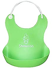 Baby baffle silicone with a pouch, green , 2725617133368
