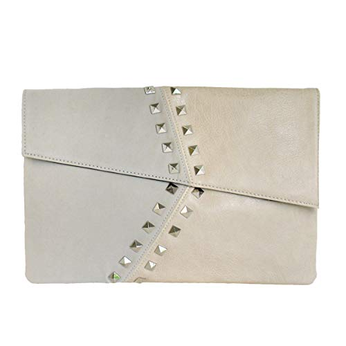 JNB Synthetic Leather/Suede Block Stud Envelope Clutch, ()