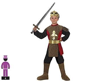 Atosa-95578 Caballero Medieval Disfraz Rey, Color Dorado, 3 A 4 Años (95578)