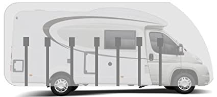 HBCOLLECTION Breathable Premium Cover for Low Profile Motorhome up to 7.5m