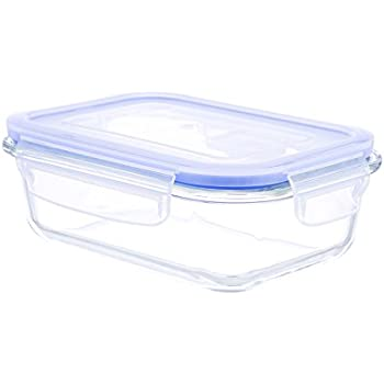 Kinetic Go Green Glassworks Elements Series 22 Ounce Rectangular Food  Storage Container With Vented Lid