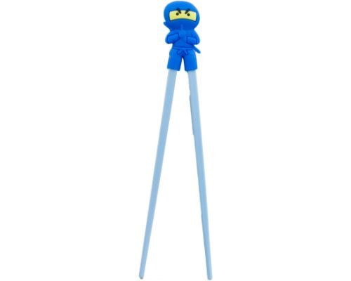 Easy-To-Use Adorable Training Chopsticks For Beginners Right or Left Handed Suitable for All Ages From Kids To Adults (Blue Ninja)