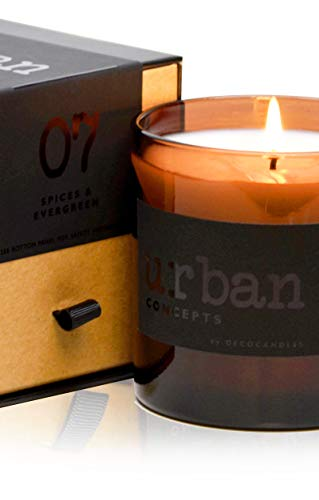 DecoCandleS Urban Concepts Cozy - Mélange of Spices & Evergreen - Highly Scented Soy Candle - Long Lasting - Hand Poured in USA - Signature Scent for The Bohemian Hotel Asheville, NC - 9 Oz.