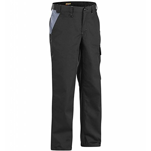 Blaklader 140418009994C152 Industry Trousers, Size 36/34, Black/Grey