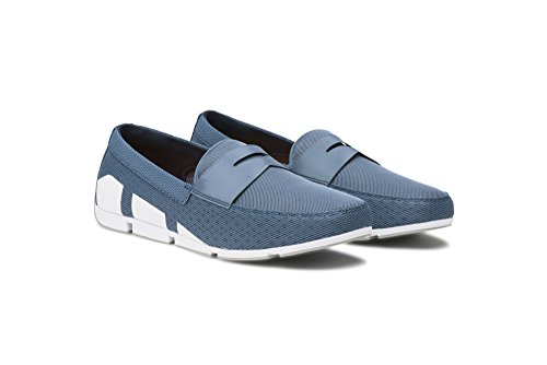 SWIMS Men's Breeze Penny Loafer for Pool and Summer Slate/White/Gray discount hot sale 9XaXthxc