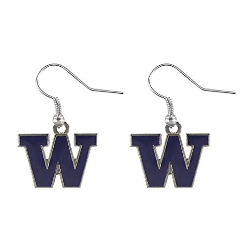 NCAA Washington Huskies Logo Dangler Earrings