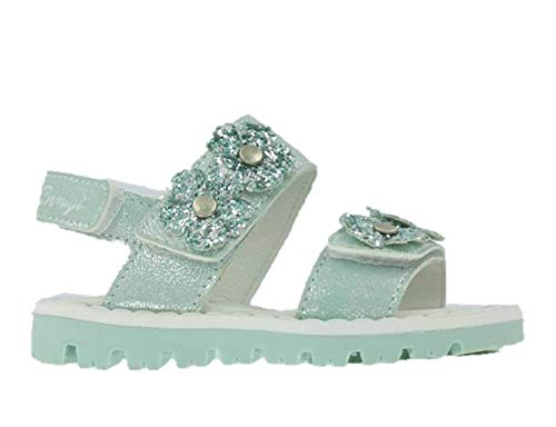 - Primigi 3417222 Sandals Girl Leather Glitter tears Aquamarine First Steps Made in Italy