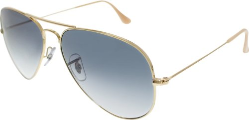Ray-Ban Men's Aviator RB3025-001/3F-58 Gold Aviator - Rb3025 Ban Ray 58 14 001 58