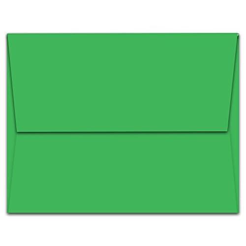 60 off 50 green a7 envelopes 7 25 x 5 25 square flap