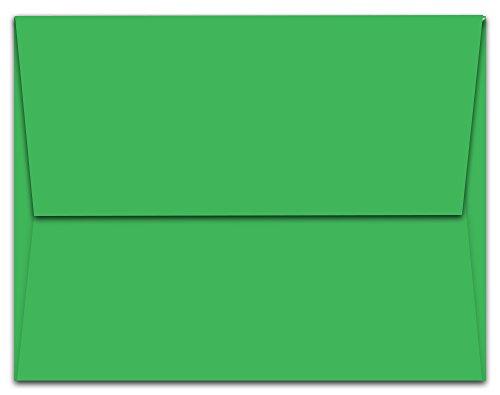 Green Square Photo Card - 100 Green A7 Envelopes - 7.25