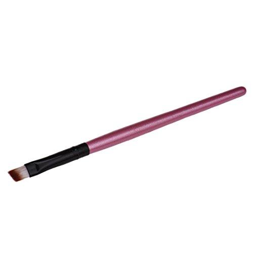 Longra 1 PC Augenbrauenpinsel Kosmetik Make-up Pinsel schräg reale Techniken Klein Dünn (Rosa)