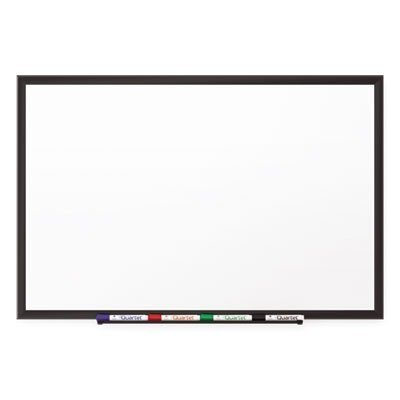 QUARTET MFG Classic Porcelain Magnetic Whiteboard, 48 x 36, Black Aluminum Frame (2544B)