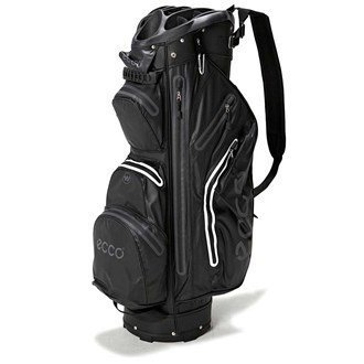 Ecco 2016 Cart Trolley Golf Bag Watertight - 14 Way Divider - 9 Pockets - Black by Waterproof Cart Bag