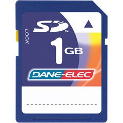 - DANE-ELEC Dane-Elec 1 GB Secure Digital Memory Card DA-SD1024-R