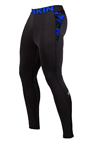 DRSKIN Compression Cool Dry Sports Tights Pants Baselayer Running Leggings Yoga Rashguard Men (CAME B-MBU07, 2XL)