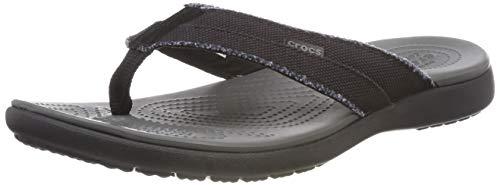 Crocs Mens Mens Swiftwater Wave Flip Flop Casual Summer Sandal Beach and Shower Shoe Flip-Flop