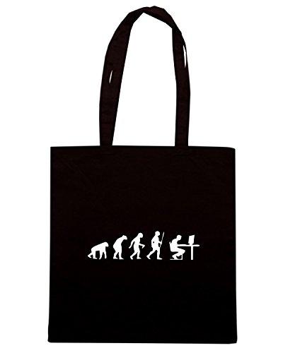 T-Shirtshock - Bolsa para la compra EVO0033 Geek Evolution Humor Maglietta Negro