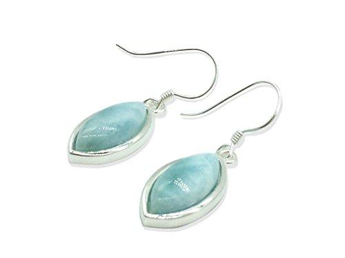 Larimar Gemstones with 925 Sterling Silver Drop Earrings Jewelry for Women