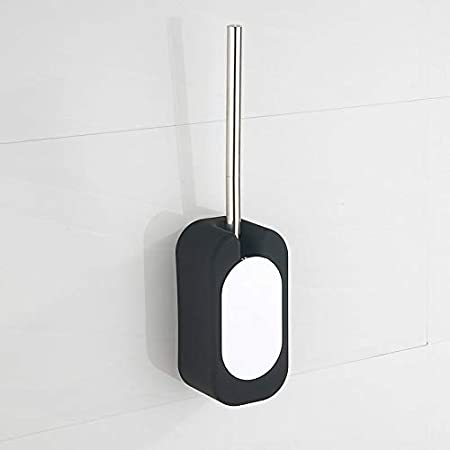 dirk Toilet Brush and Holder, Wall-Mounted Brush for Toilet (Black)