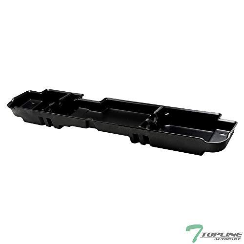 Topline Autopart Black Gearbox Underseat Storage Cargo Organizer Box For 99-16 Ford F250 / F350 / F450 / F550 Superduty Crew Cab with 60/40 Split Bench